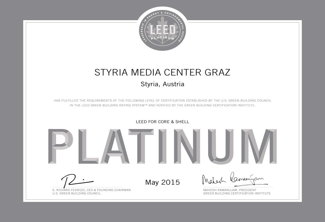12.012 - Styria Media Center Graz EZ Platin